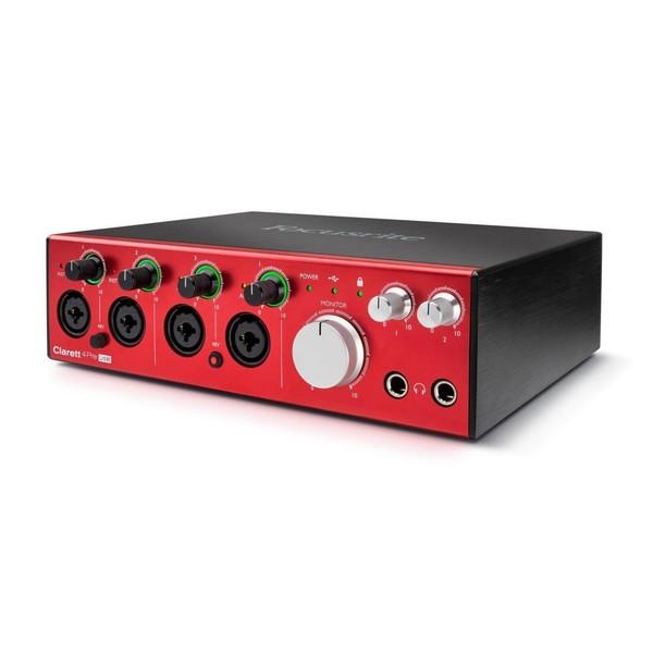 Focusrite Clarett 4Pre USB Audio Interface - Left