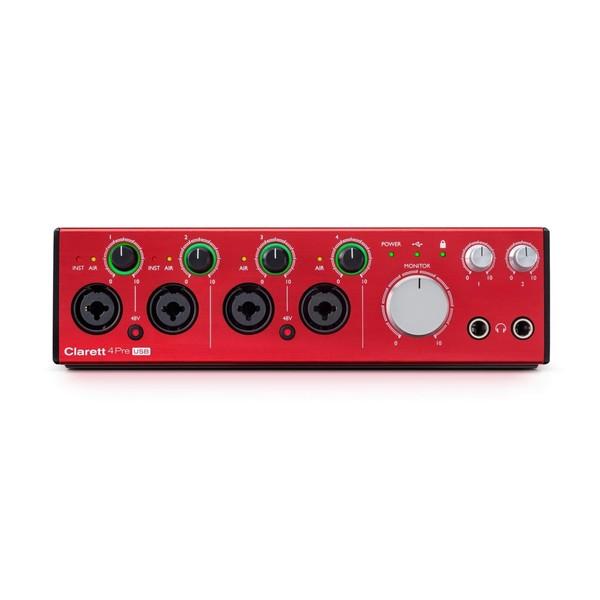 Focusrite Clarett 4Pre USB Audio Interface - Front