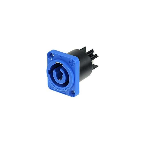 Neutrik NAC3MPA-1 PowerCON Power-In Chassis Connector, Blue 1