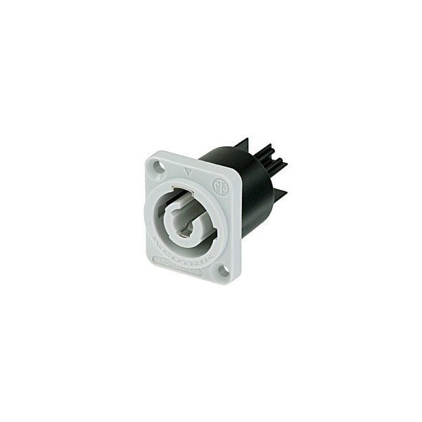 Neutrik NAC3MPB-1 PowerCON Power-Out Chassis Connector, Grey 1