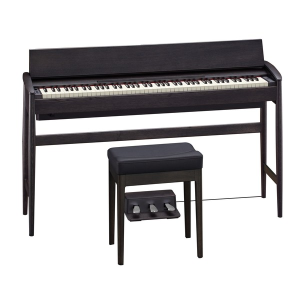 Roland Kiyola KF-10 Digital Piano with Stool, Sheer Black