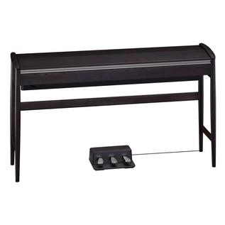 Roland Kiyola KF-10 Digital Piano with Stool, Sheer Black - lid closed