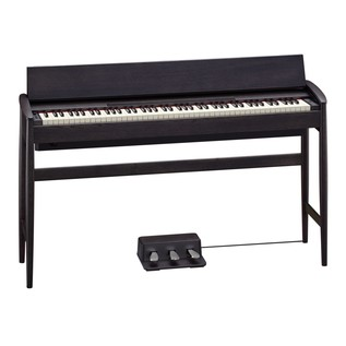 Roland Kiyola KF-10 Digital Piano with Stool, Sheer Black - lid open