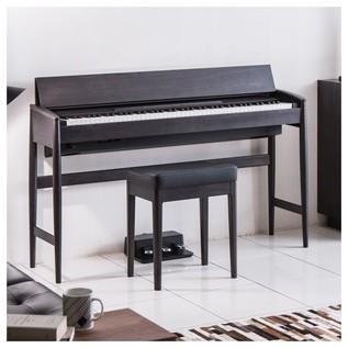 Roland Kiyola KF-10 Digital Piano with Stool, Sheer Black - room