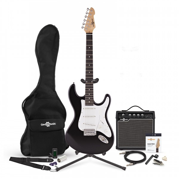 LA Electric Guitar + Complete Pack, Black