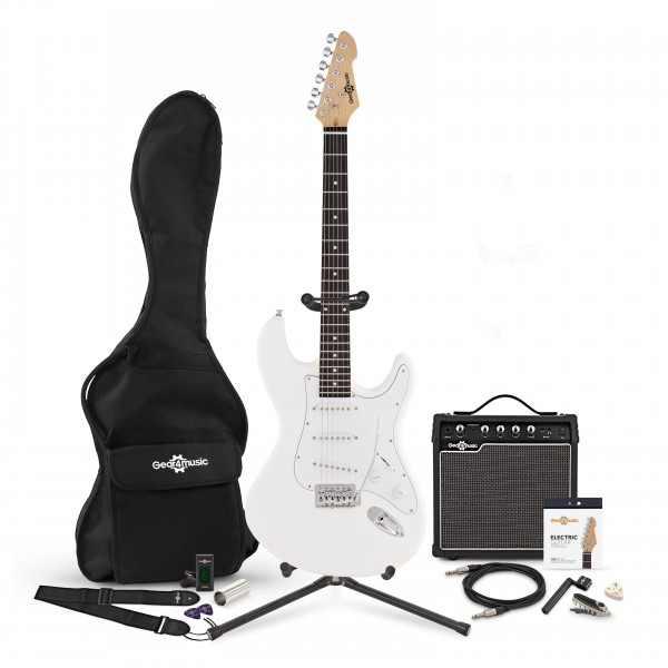LA Electric Guitar + Complete Pack, White