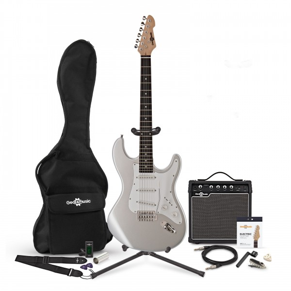 LA Electric Guitar + Complete Pack, Silver