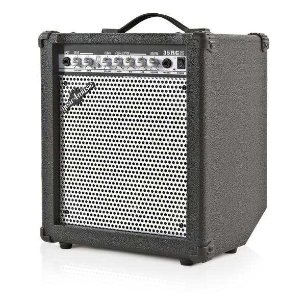 LA Electric Guitar + 35W Complete Pack, Black