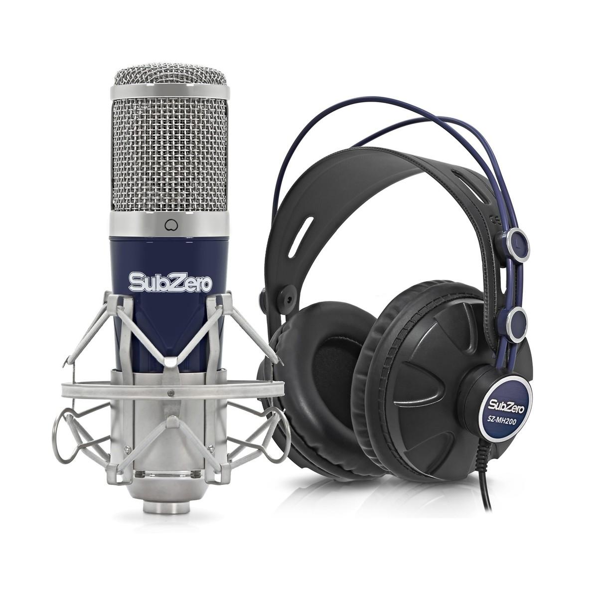 Pack Avec Microphone Subzero Szc 500 Usb Et Casque Audio Gear4music