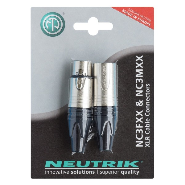 Neutrik NC3FXX & NC3MXX 3-Pole XLR Connector Twin Pack
