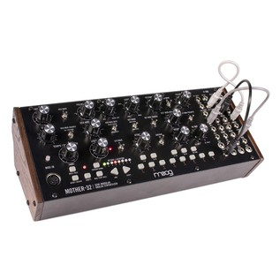 Moog Mother-32 Analog Modular Synthesizer  - Angled with Cables