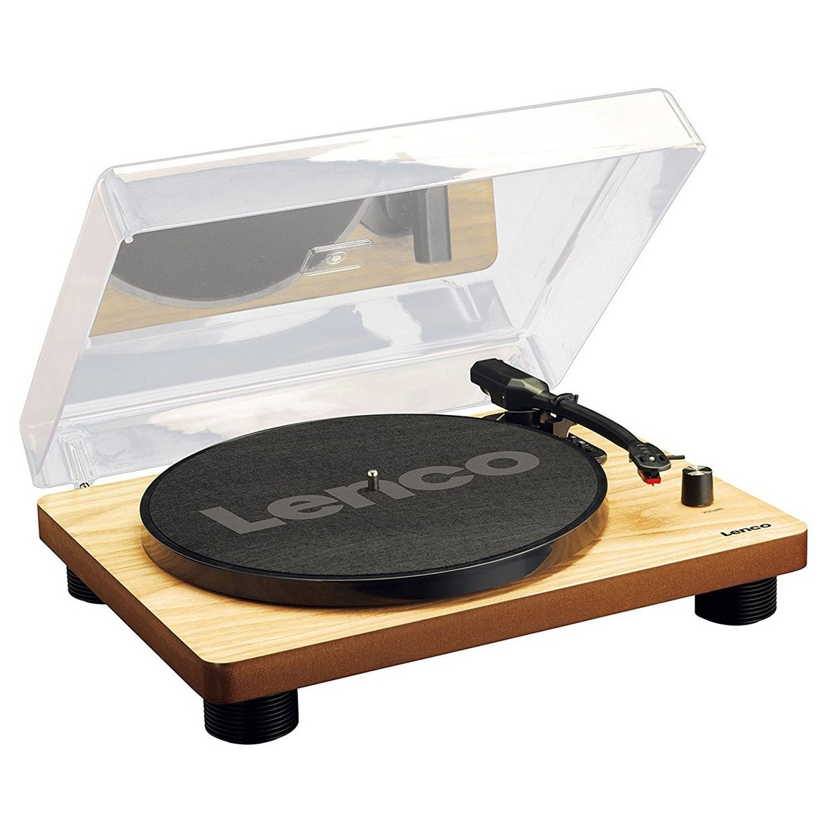 lenco ls 50 turntable natural wood box opened at. Black Bedroom Furniture Sets. Home Design Ideas