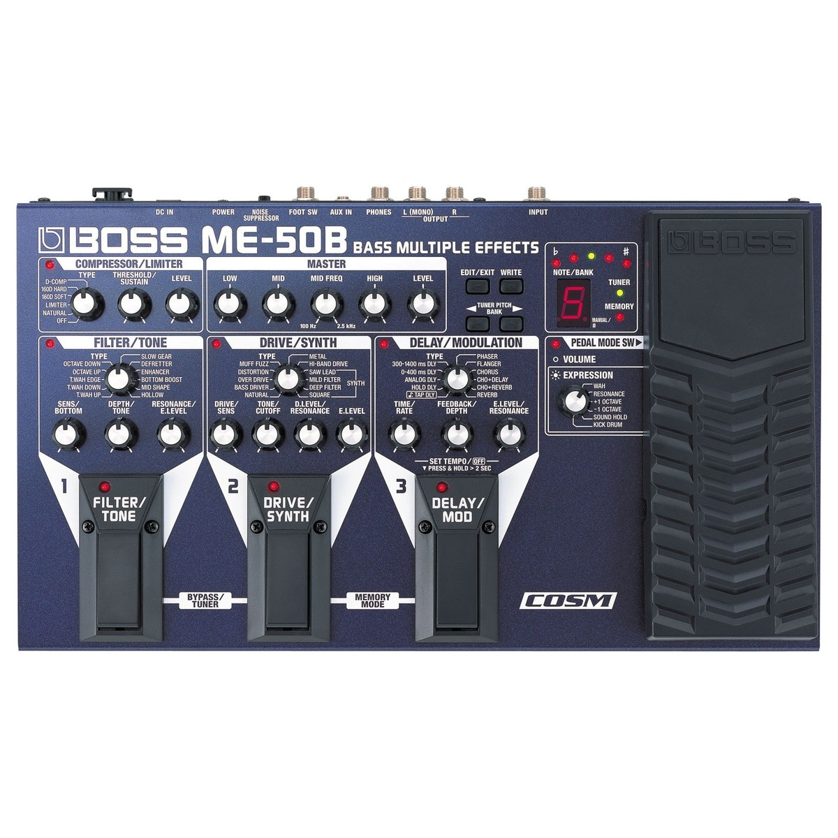 boss me 50b bass effects processor at. Black Bedroom Furniture Sets. Home Design Ideas