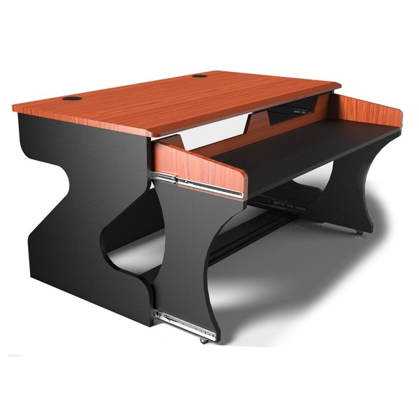 Miza M Studio Desk, Black Cherry - Angled 2