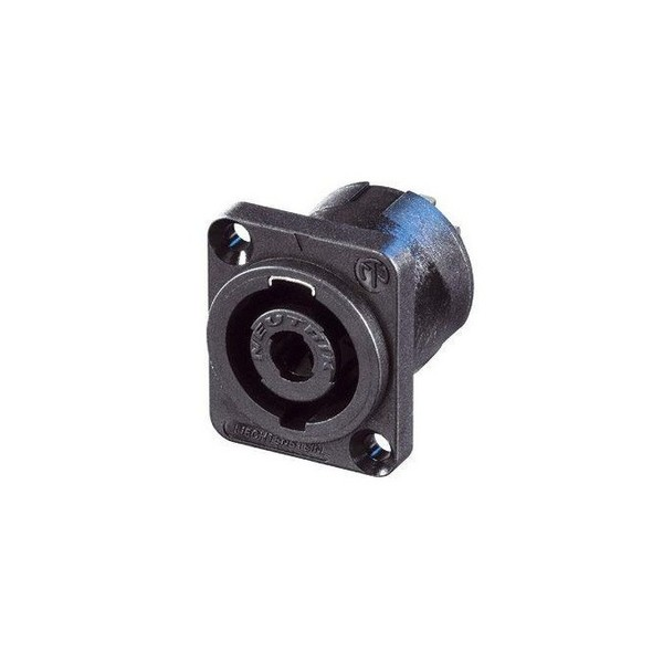 Neutrik NL4MP-UC 4-Pole Male SpeakON Chassis Connector, D-Size, Black 1