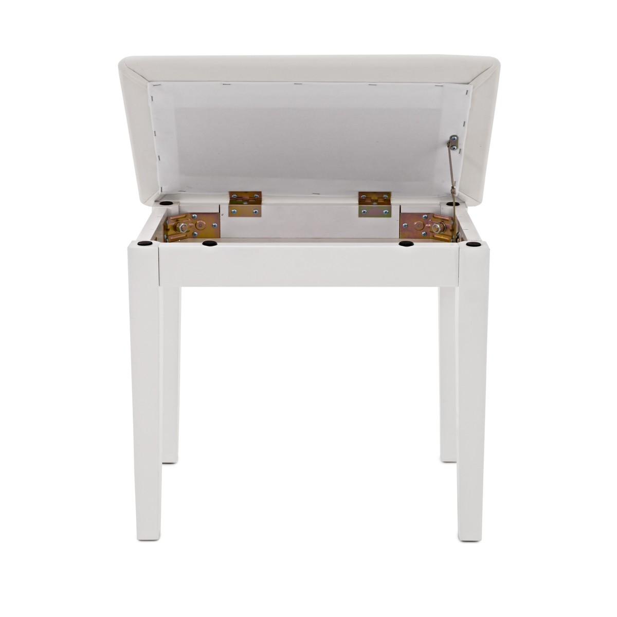 Piano Stool With Storage By Gear4music White B Stock At