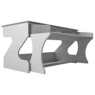 Zaor Studio Desk, Grey Wenge - Angled 2
