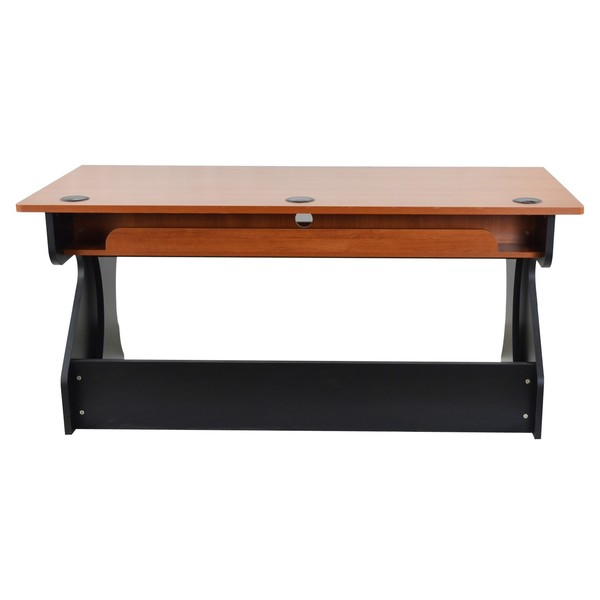 Zaor Studio Desk, Black Cherry - Rear
