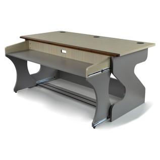 Miza Z Studio Desk, Bleached Oak - Pull-Out