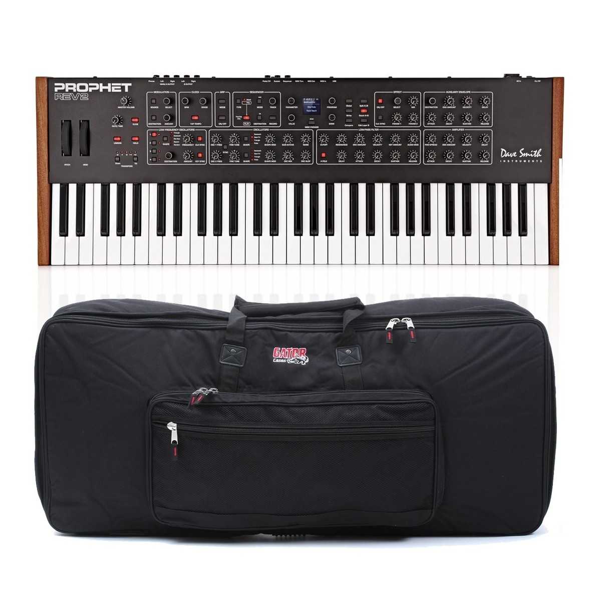 dave smith instruments prophet rev2 8 voice analog poly synth case at gear4music. Black Bedroom Furniture Sets. Home Design Ideas