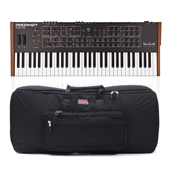 Dave Smith Instruments Prophet Rev2 8 Voice Analog Poly Synth & Case - Bundle
