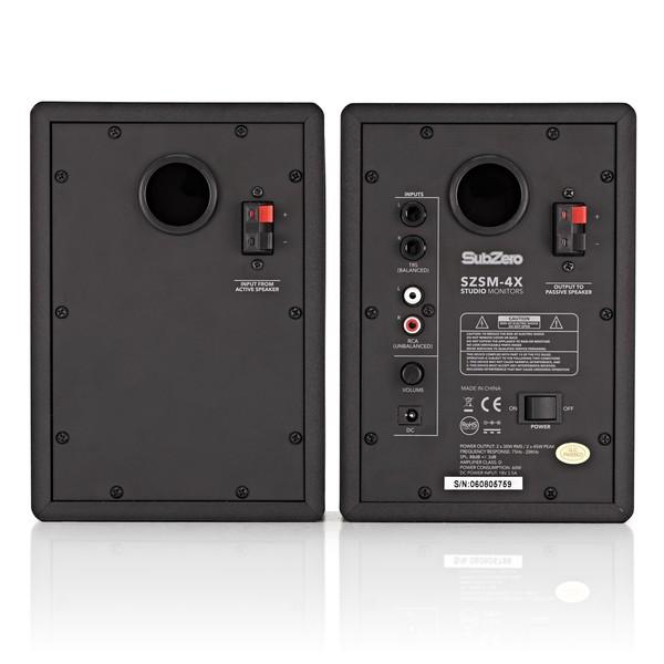 SubZero SZSM-4X Studio Monitors with Isolation Pads, Pair
