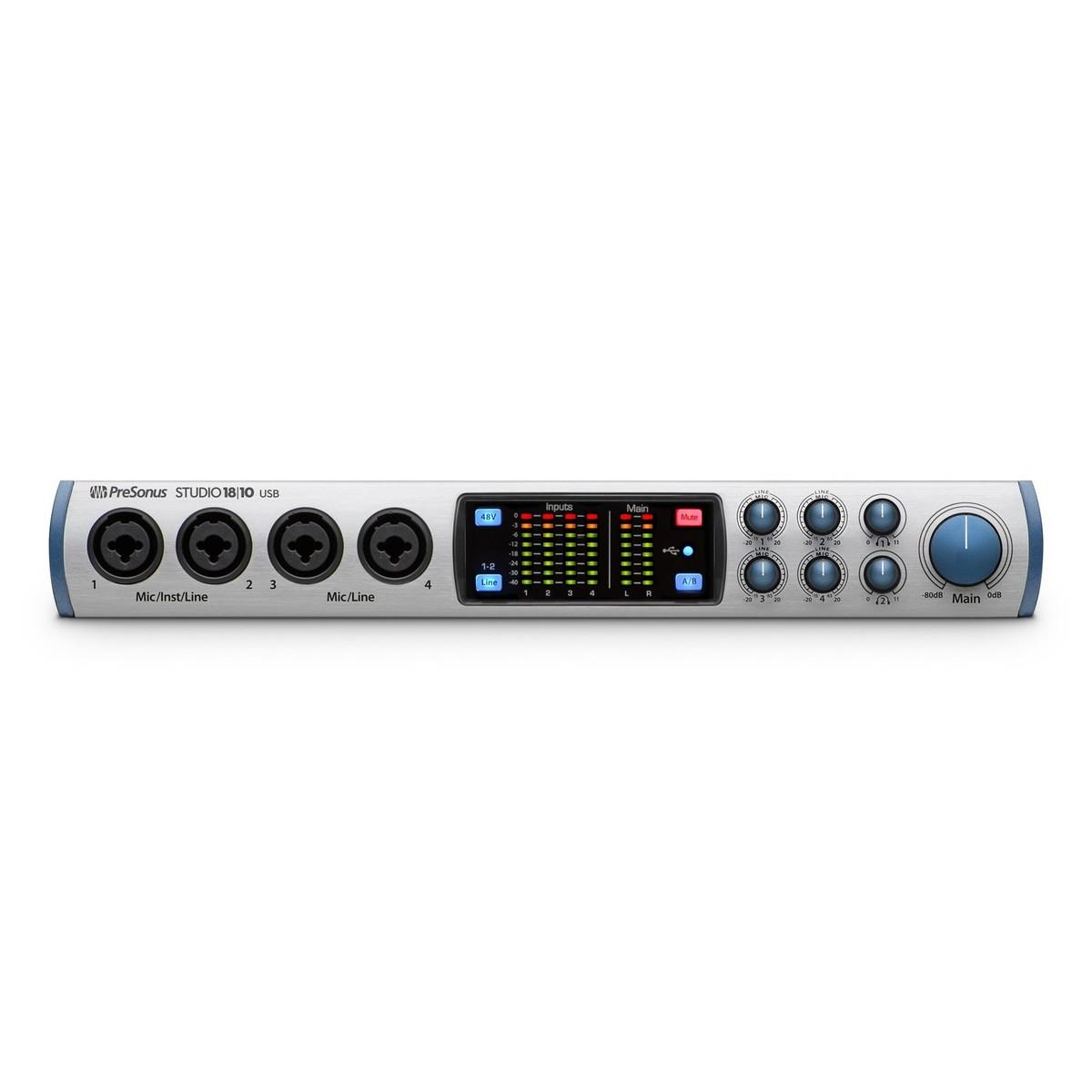 presonus studio 18 10 audio interface at. Black Bedroom Furniture Sets. Home Design Ideas