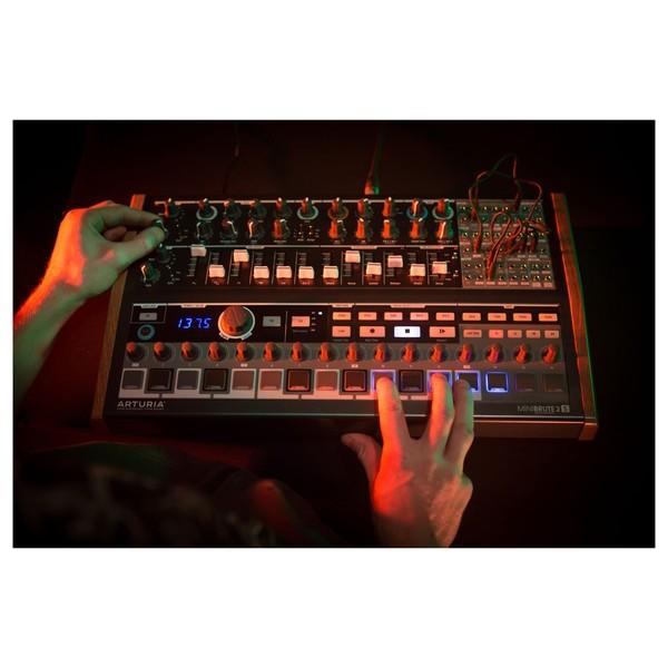Arturia MiniBrute 2S Semi-Modular Analog Sequencing Synth Module - Lifestyle 5