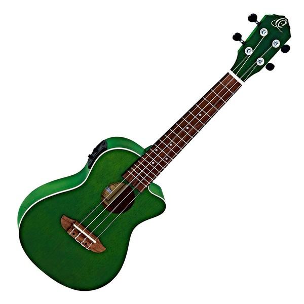 Ortega RUFOREST Electro Acoustic Concert Ukulele, Forest Green
