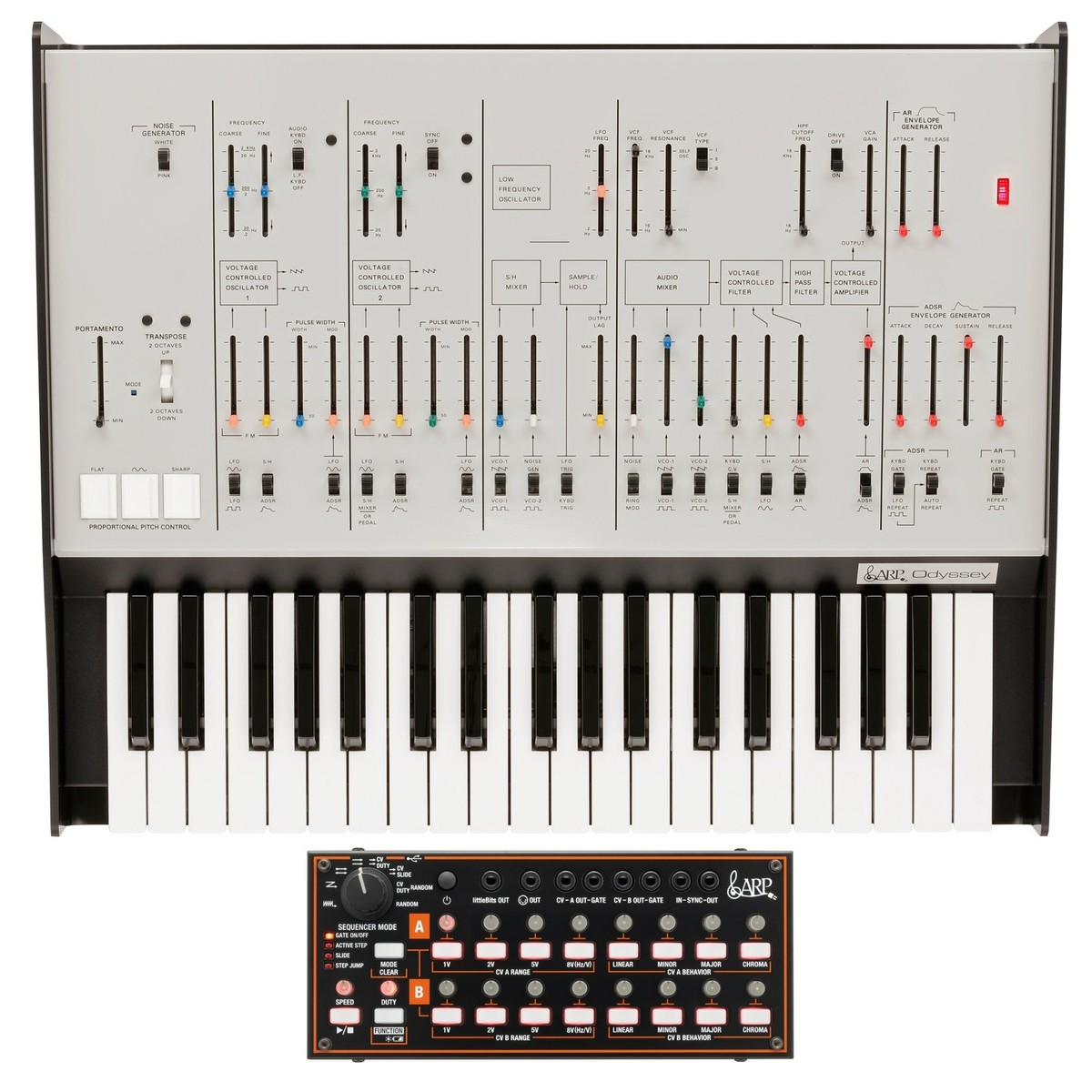 Korg ARP Odyssey Rev1 with SQ-1