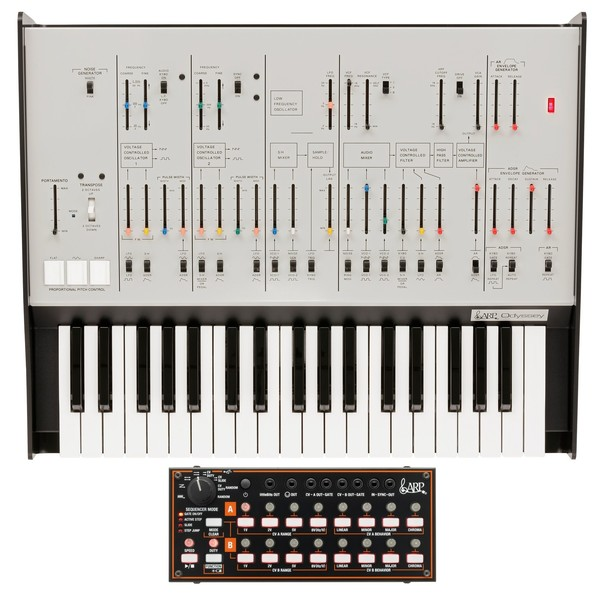 Korg ARP Odyssey Rev1 with SQ-1 - Main