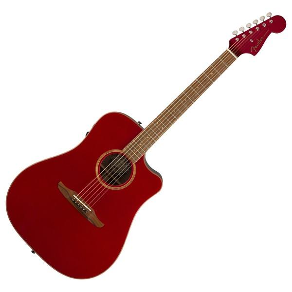Fender Redondo Classic Electro Acoustic w/ Bag, Hot Rod Metallic Front View