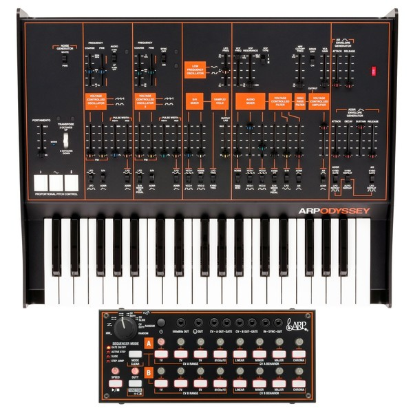 Korg ARP Odyssey Rev3 with SQ-1 - Main