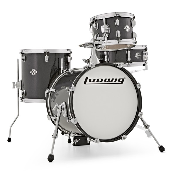 Ludwig Breakbeats Questlove 16in 4Pc Shell Pack, Black Gold Sparkle