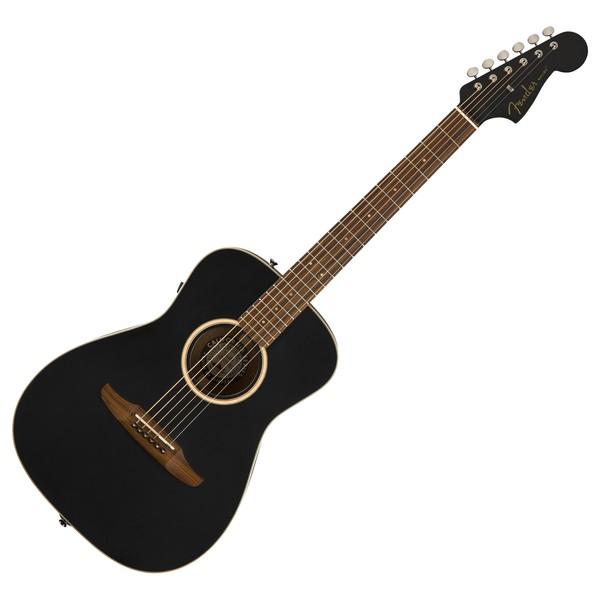 Fender Malibu Special Electro Acoustic w/ Bag, Matte Black Front View