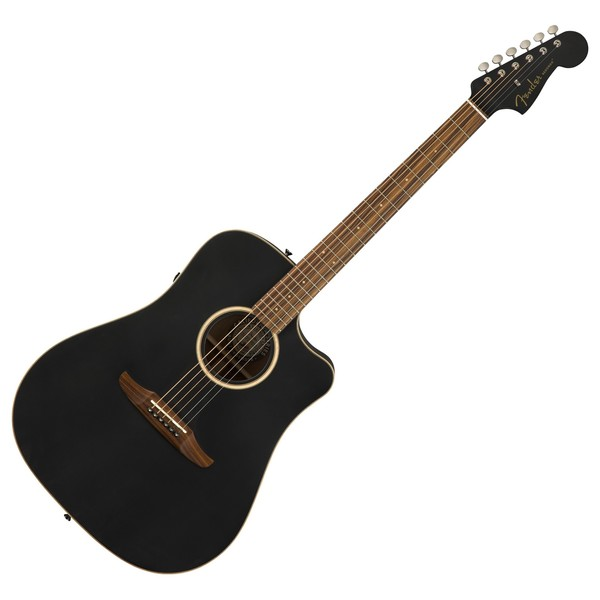 Fender Redondo Special Electro Acoustic w/ Bag, Matte Black Front View