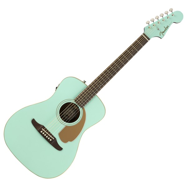 Fender Malibu Player Electro Acoustic, Aqua Splash Front View