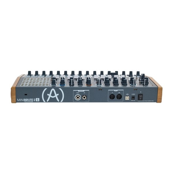 Arturia MiniBrute 2S Semi-Modular Analog Sequencing Synth Module - Rear