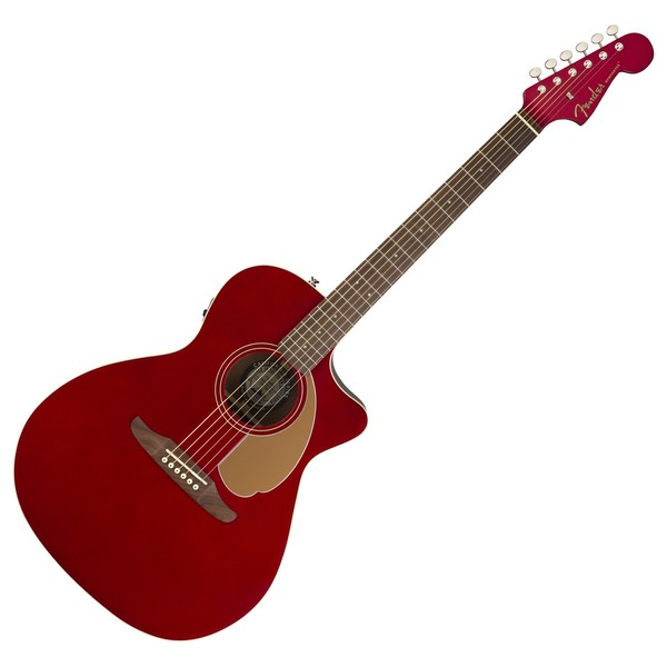 Fender Newporter Player Electro Acoustic, Candy Apple Red Front View