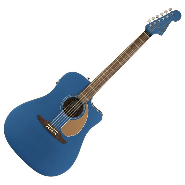 Fender Redondo Player Electro Acoustic, Belmont Blue Front View