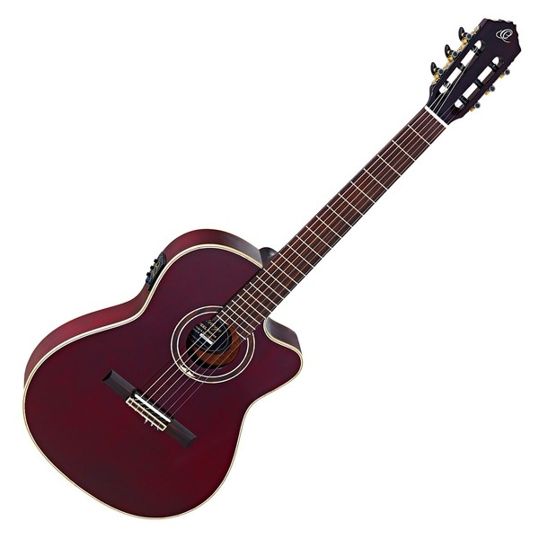 Ortega RCE138-T4STR Electro Nylon String, Stained Red