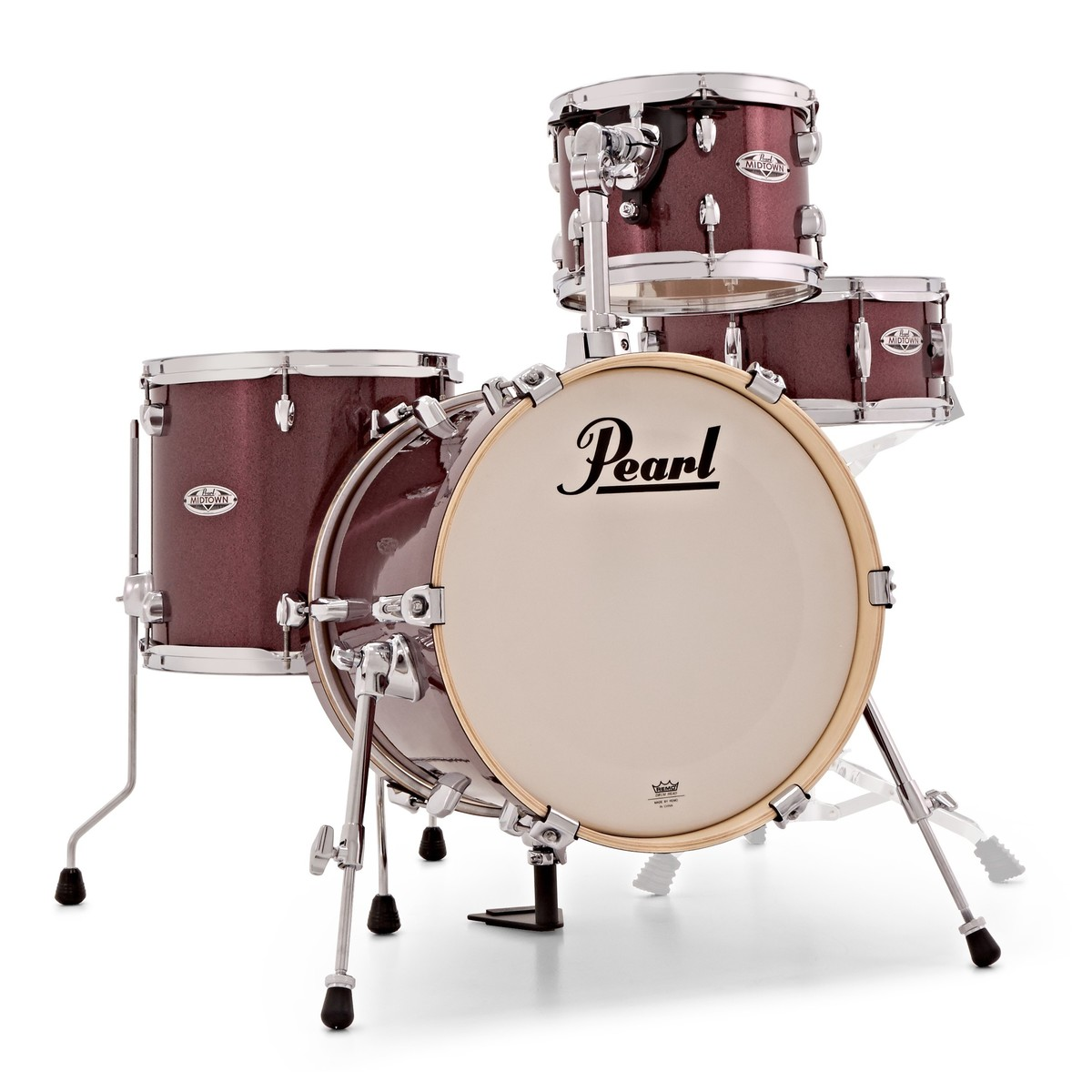Pearl Midtown 4pc Compact Shell Pack W Bags Black Cherry