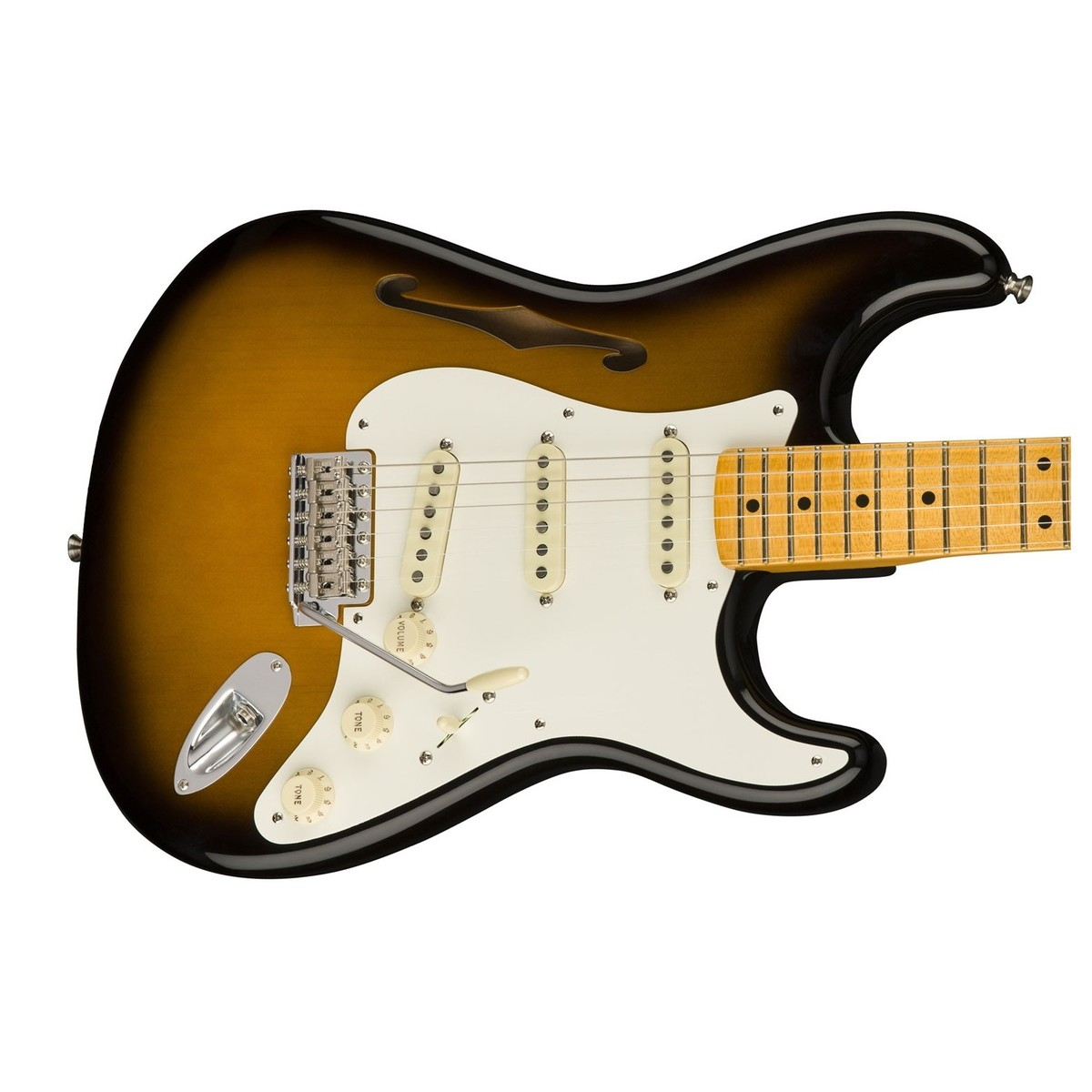 Fender Eric Johnson Thinline Stratocaster MN, 2-Tone Sunburst bei ...