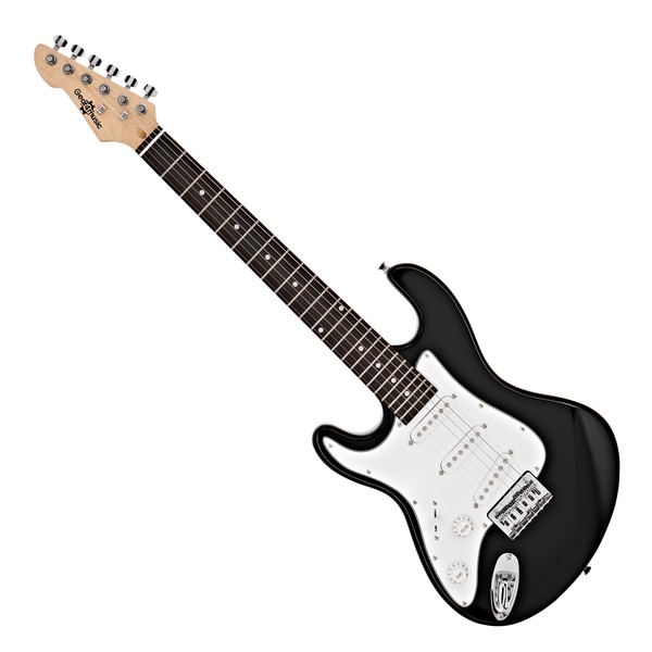 3/4 LA Left Handed Electric Guitar by Gear4music, Black