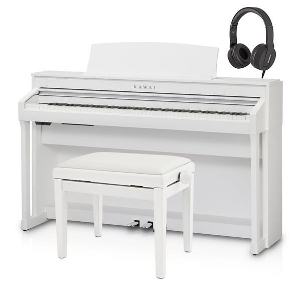 Kawai CA58 Digital Piano Package, Satin White