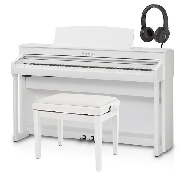 Kawai CA58 Digital Piano Package, Satin White