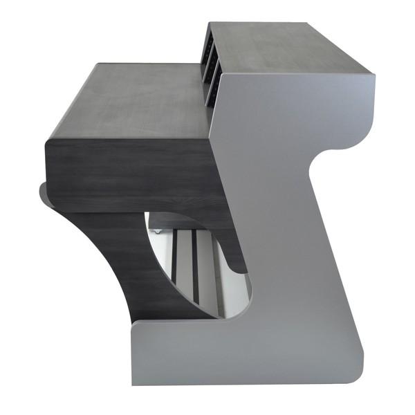 Miza 88XL Studio Desk, Black Wenge - Side