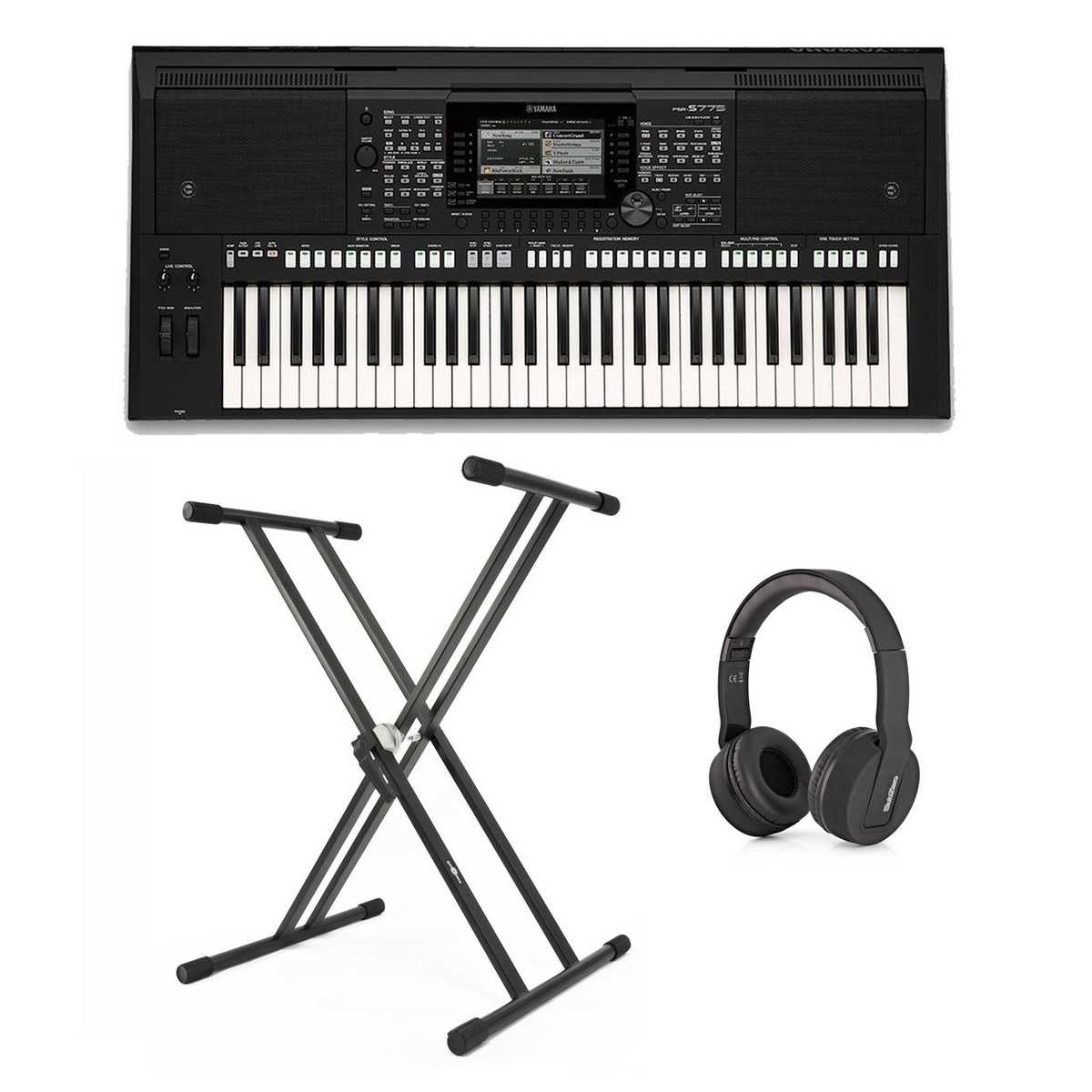 yamaha psr s775 portable arranger workstation pacchetto. Black Bedroom Furniture Sets. Home Design Ideas