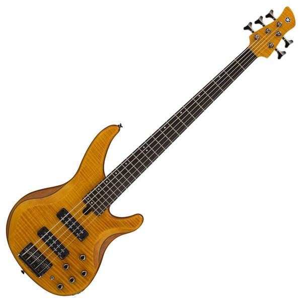 Yamaha TRBX605FM 5 String Bass, Matte Amber