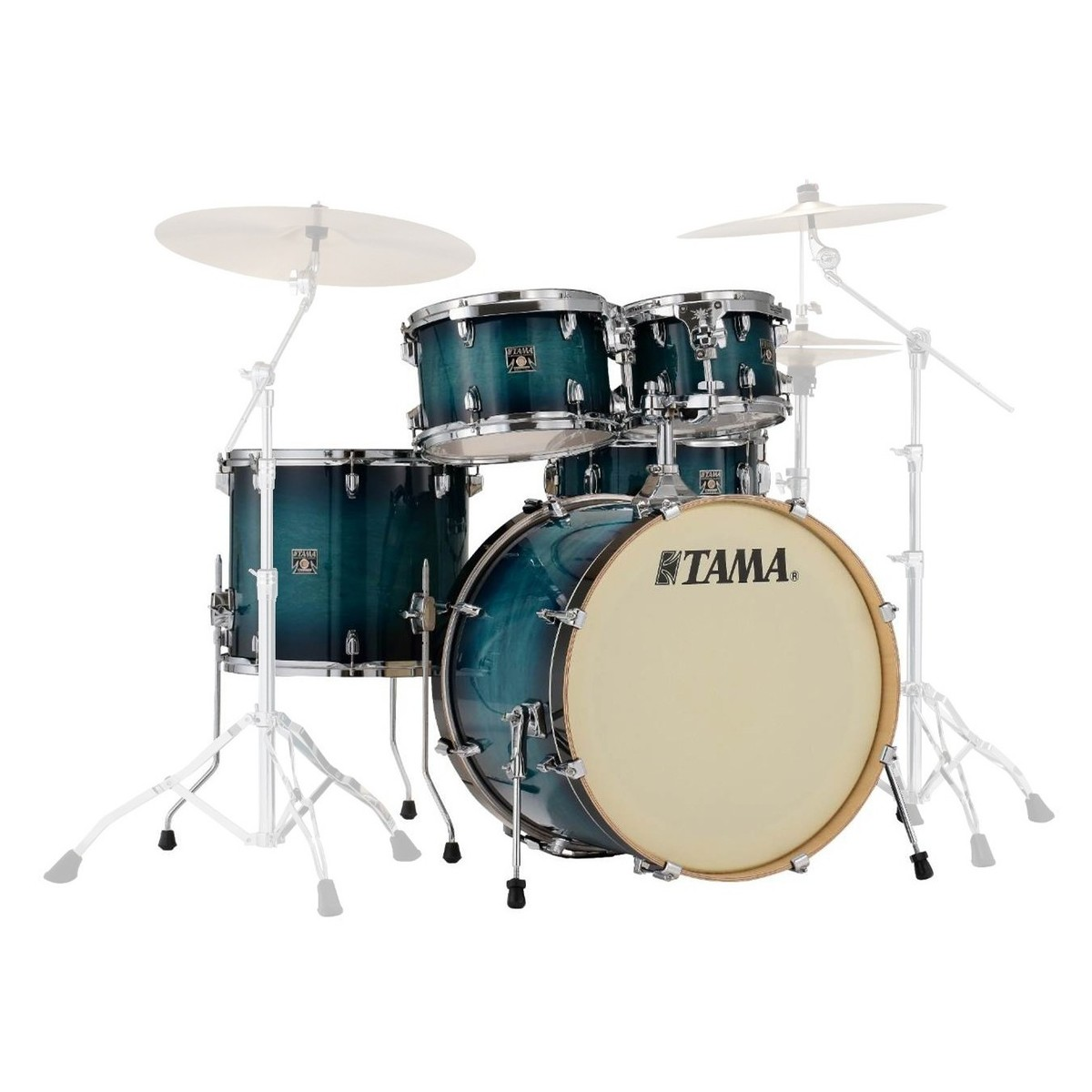 Tama superstar classic 22 39 39 5pc shell pack blue lacquer for Classic house drums